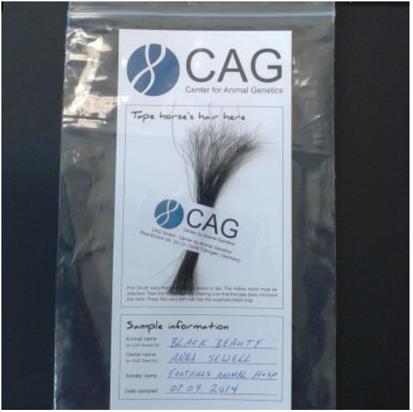 Sample Collection Instructions - CAG - Center for Animal Genetics